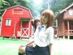 Alpha Porno Movie:Schoolgirls flash panties and ...
