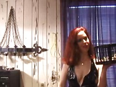 latex, domination, redhead, bondage,