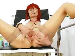 milf, cougar, doctor, uniform,