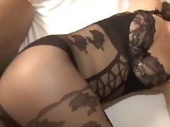 Hot milf in bodystocking fucks