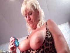 Busty mature whore get...