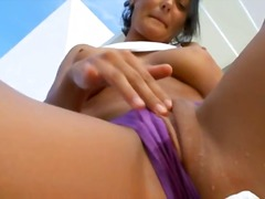 See: Busty glamour peeing t...
