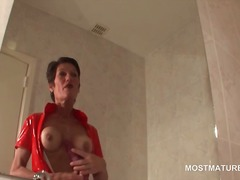 hardcore, mom, toys, dildo, milf, strapon, masturbation, vibrator, mature, brunette, older, granny, toy, sex toy