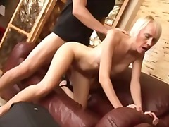 Erotic blond milf suck...