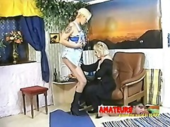 Xhamster - Old lesbians eating banana and make foot worship