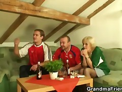 Old whore is filled wi... video