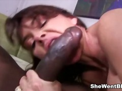 milf, cougar, black, interracia, cock, mom