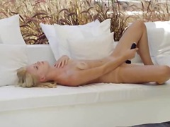 outdoor, blonde, pussy, beautiful