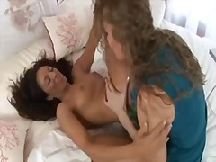 kissing, brunette, lick, pussy, chick