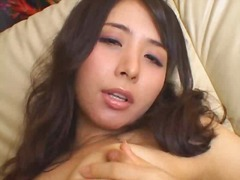 Jap girl plays with se...