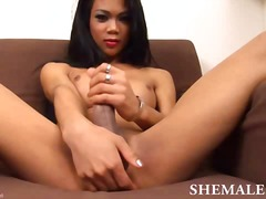 masturbation, asian, boobs, solo, jerking, ladyboy