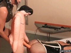 Kinky carmen has fun with her sex slave part2