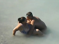 Bbw got fucked in the sea