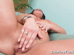 Hot sexy bust brunette gives nice pus...