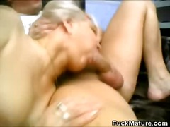 group, blonde, threesome, mature