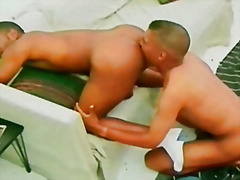 Thumb: Black gay ass fingering