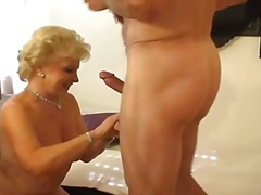 Thumb: Hot blonde granny smok...