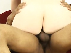 interracial, blowjob, blonde, hairy,