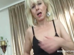 mature, older, masturbation, nylons,