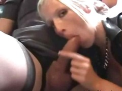 mature, cumshot, threesome,