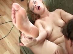 See: Horny young blonde les...