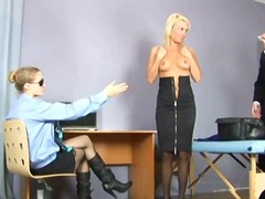 Hot blonde and gynecologist