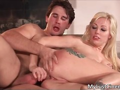 Alpha Porno Movie:Steamy blond whore getting anu...