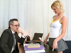 Lovely blonde babe shelly is spending some quality tutorial time not far from her master
