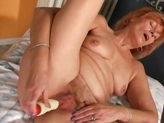 dildo, mature, masturbation,