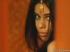 Indian babe red satin ... video