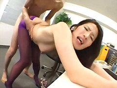 Hairy japanese slut cum on ass
