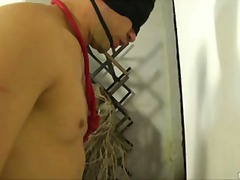 Slave in mask for a wi... video