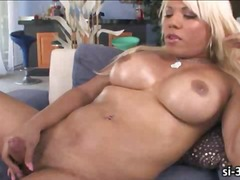 shemale, big, tits, tranny, blonde