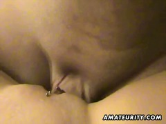 Cute amateur girlfriend sucks and fuc...