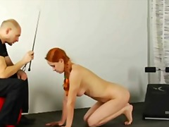 Slave redhead babe is ... video