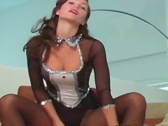 Amazing brunette girl ... video