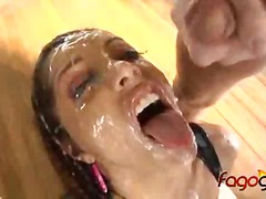 Francesca le 12 man blowbang