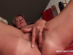 Orgasm craving hot mature fucks herse...