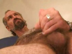 Thumb: Mature bear solo mastu...