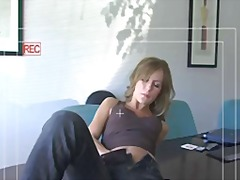 Crystal klein masturbates at office