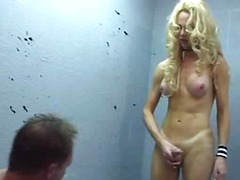 aShemaleTube Movie:Sexy blonde drills guy in the ...