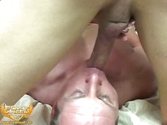 Sexy blonde drills guy...