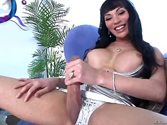 Raven haired shemale m... video