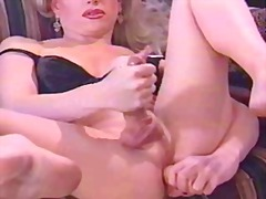 shemale, masturbation, blonde, milf,