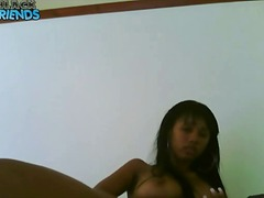 Thumb: Black webcam girl with...