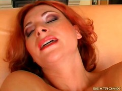 Redhead pokes hairy pu... preview