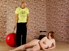 Redhead lady gets nude... video