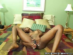solo, webcam, ebony, dildo