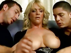 milf, 3some, threesome, mom, natural,