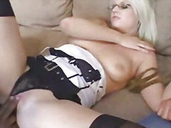 cuckold, tits, black, lingerie, swingers, swinger, cock, blonde, glasses, natural